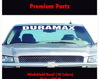 1950-2017 Duramax Diesel Body Windshield Decal Banner Sticker New 1PC Allison Transmission Stickers 11 Colors