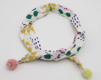 Girl's Headwrap (or Scarf) with  Printed Pattern