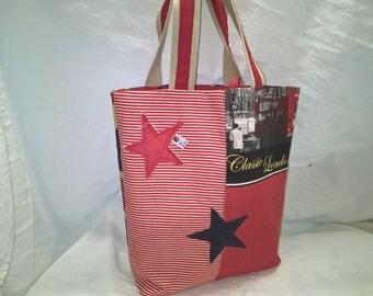 Handbag, Tote, English style, burlap