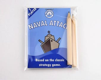 GameStash Naval Attack - party, wedding, travel, vintage game. Like Battleships