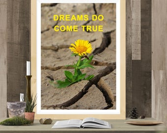 Inspirational Quote, Motivational Quote, Digital Download, Print, A4, 10x8, dreams