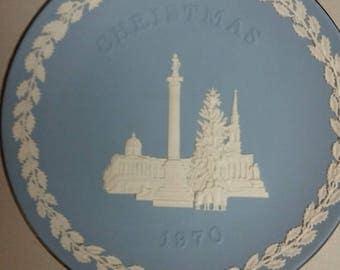 1970 wedgewood jasperware christmas plate