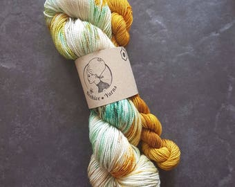 DYED TO ORDER: Desert Trail + Gilded ~ Bardot ~ Merino Nylon High Twist Sock Yarn Set