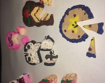 Tiny clay cakes