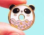 Panda Donut Enamel Pin