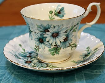 "Royal Albert ""Marguerite"" Bone China Teacup and Saucer"