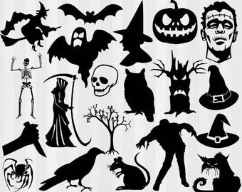 Halloween SVG Bundle, Halloween svg, witch svg, jackolantern svg, svg files for silhouette cameo, cricut explore, cut files, cuttable, skull