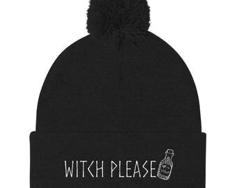 Witch Please - Pom Pom Knit Cap
