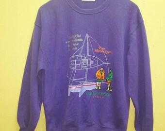 Vintage Embroidered Sweatshirt Cocco Croco Italy nice Design logo