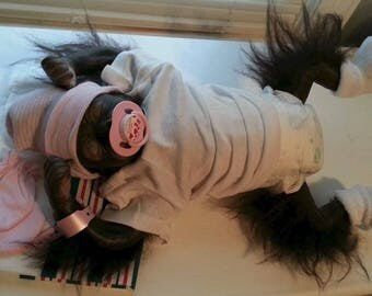 "Reborn Baby Girl Gorilla ""Sara Faye"" Reborn Baby Monkey"