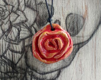 Open Rose Pendant