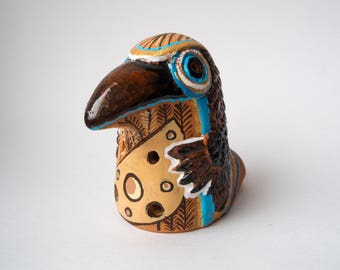 Ocarina Ceramic Crow Song Wind Instrument Musical Instrument Handmade Ocarina Ocarina instrument Folkmusic Musical instrument Bird Summer