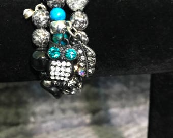 Knowledge Is Power Handmade Owl Bracelet