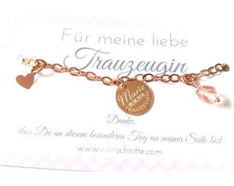 "Bracelet ~ ""Wedding Witness"" ~ 925 silver Gold"