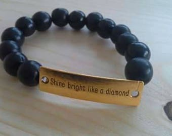 Bracelet dark blue black