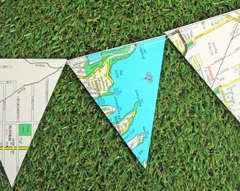 Paper Bunting from Sydney map