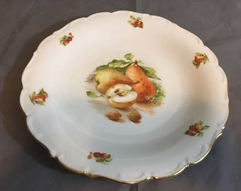 """Vintage Bavaria Schuman Arzberg Germany Dinner Plate Pears 11 3/4"""" Diameter"""