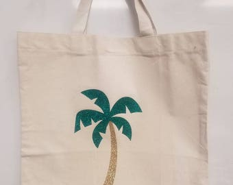 Palm tree Canvas tote