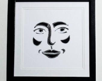Face Outline Print