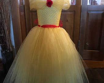 Beauty and the Beast Belle  inspired tutu dress
