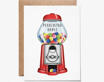 Penblwydd Hapus - Greeting Card - Welsh Birthday Card - Folio - thisisfolio - Stationery - Welsh Cards
