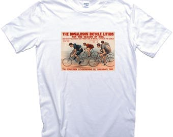 Vintage Bicycle Race Poster T-Shirt. Donaldson lithos Cycling Poster Bike Racing Cyclist
