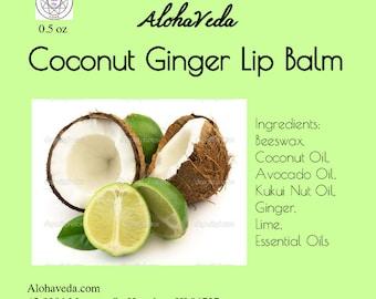 Coconut Ginger Lip Balm