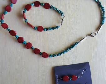 Southwestern Jewelry - necklace, bracelet and matching earrings