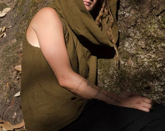 """hoodies for man and woman from raw silk """"vastness"""""""