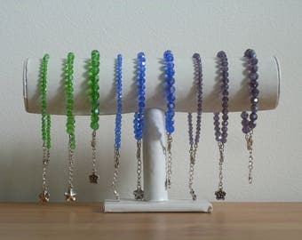 Ankle Bracelet Crystal earthen colors, 9 choices are available.