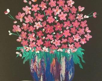 Acrylic, Flower, Canvas,
