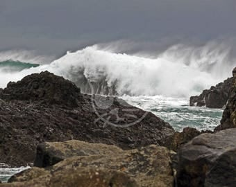Stormy Seas at Ballintoy