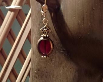 Celtic design drop earrings