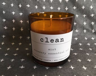 CLEAN - scented soy candle