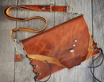 Handmade Rustic Leather Purse