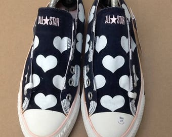 37 EU 4.5 USES Converse Blue hearts low code GND. 0976
