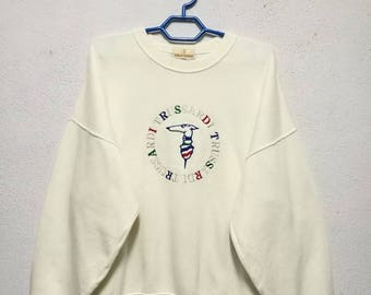Vintage Trussardi Multicolour Big Logo Sweater Sweatshirt