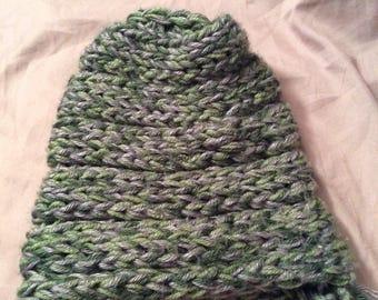 Finger Knit Hats