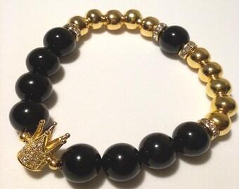Royal Crown Beaded Bracelet