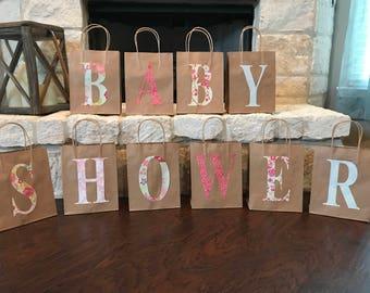 Shabby Chic Baby Shower Bags