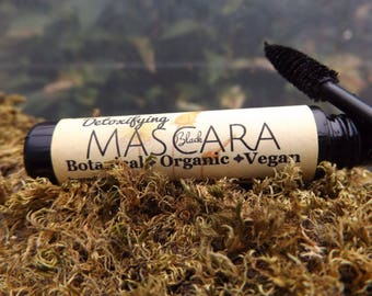 Sale! Detoxifying Mascara/Black Organic Mascara/100% Chemical Free/Detoxify Your Eyes/Healing Mascara/Moisturizing While Pulling out toxins!