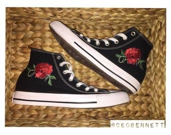 Custom Rose Converse