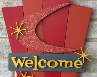 Retro Welcome Sign for the House Love That Lucy
