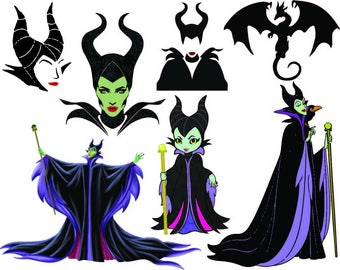 Disney Maleficent  Monogram - Cutting Files and Clipart Svg Png Eps Dxf JPG Digital Graphic Design Instant Download Commercial Use