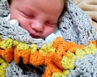 Ruffled Crochet Baby Blanket