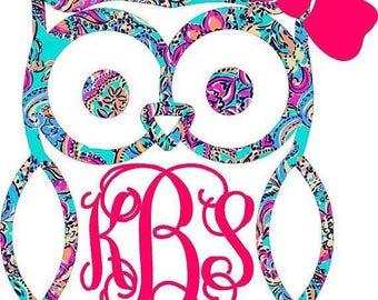 Owl Vinyl Monogram
