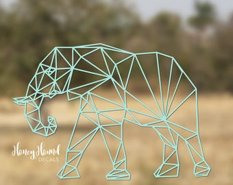 Geometric Elephant Vinyl Decal