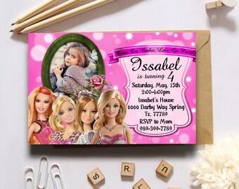 Princess invitation/Princess birthday invitation/Princess birthday party supplies/Princess birthday invitation printable/Princess invites