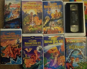 Lot of The Lands Before Time VHS series 1-8