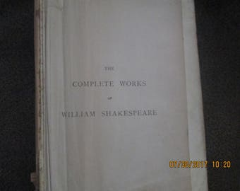 Complete Works of William Shakespeare 1901 Collins Clear-type Press